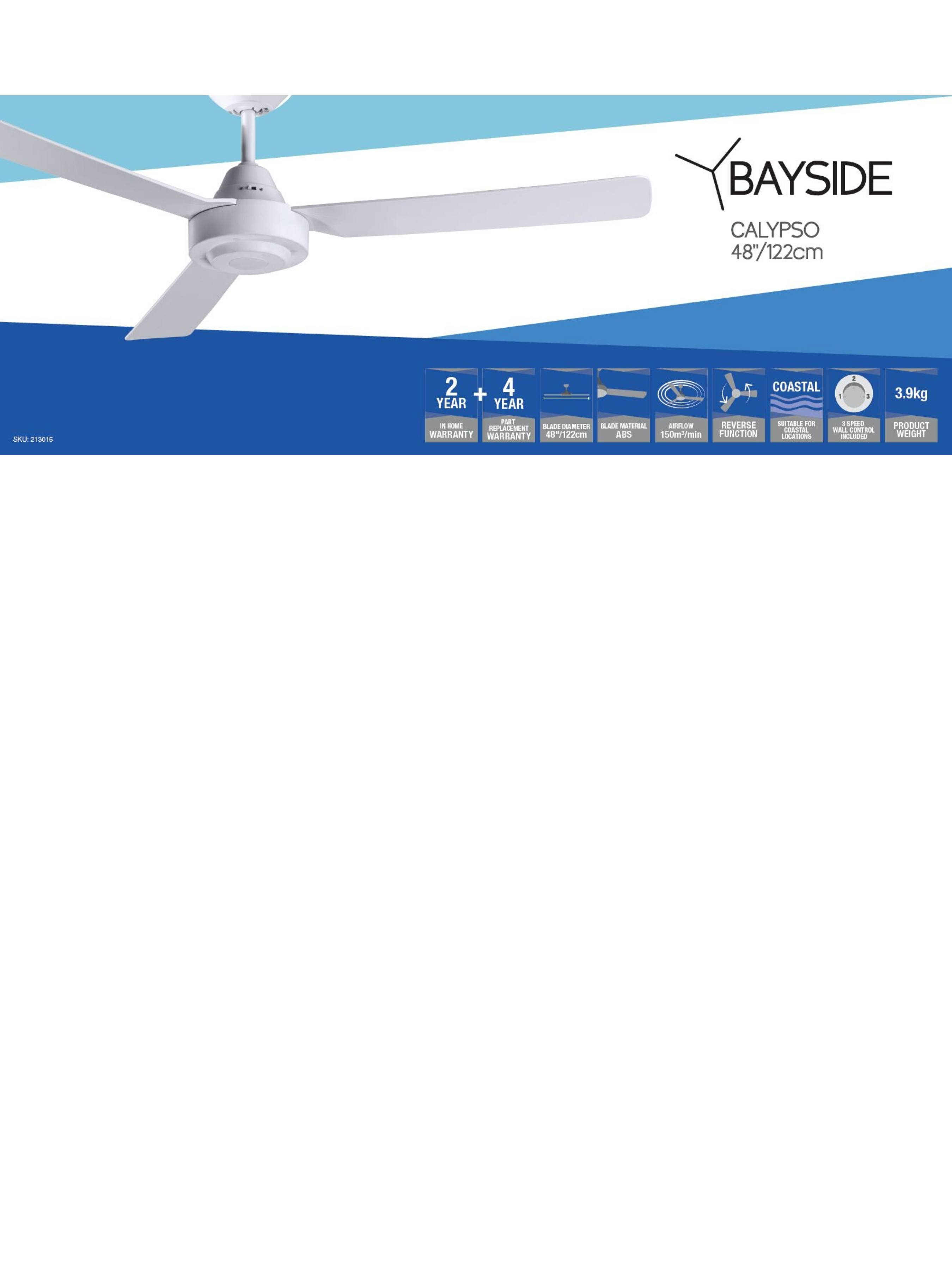 Bayside Calypso Deckenventilator - Beacon Lighting Europe