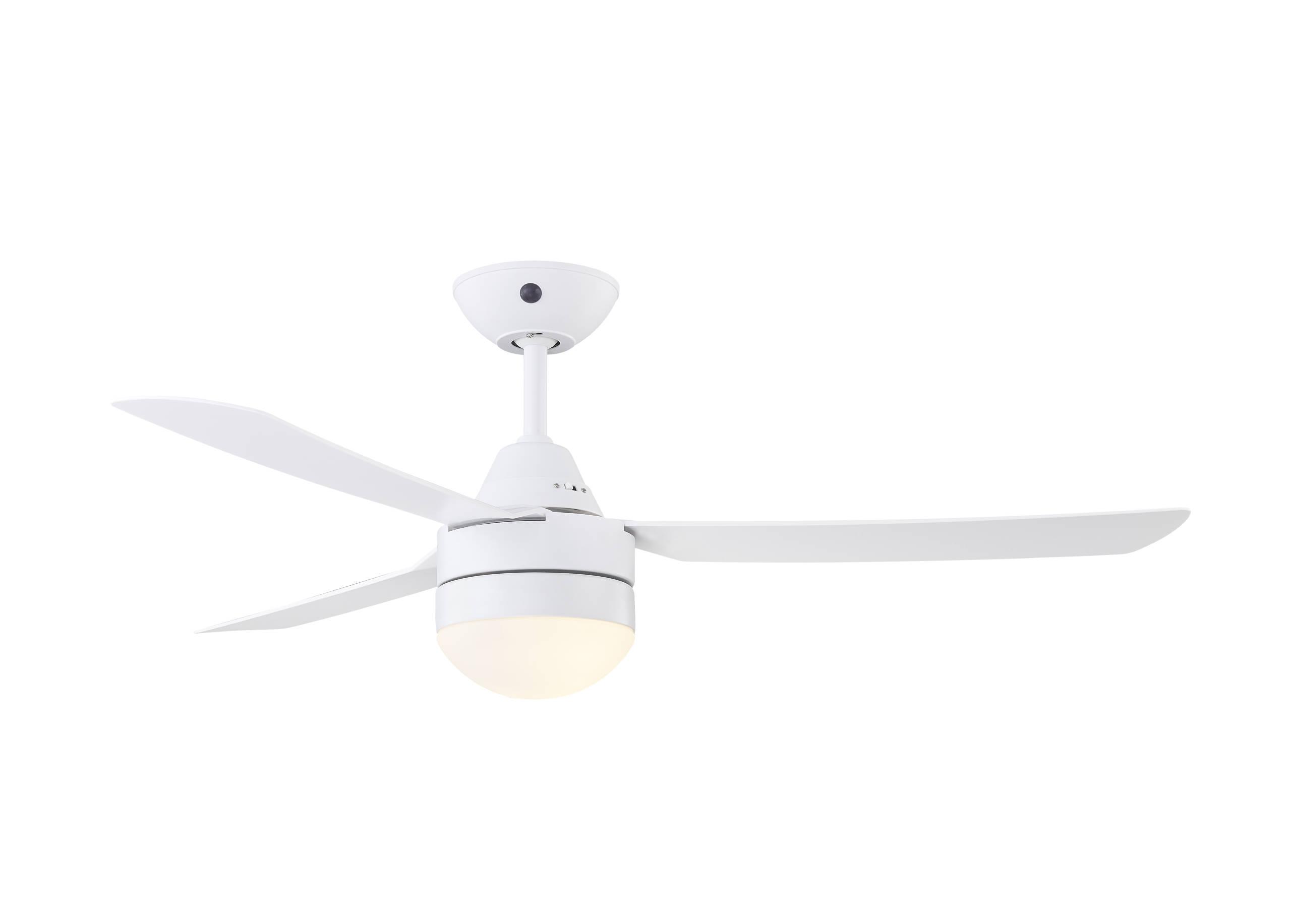 Megara Deckenventilator in Weiß mit Fernbedienung und Licht